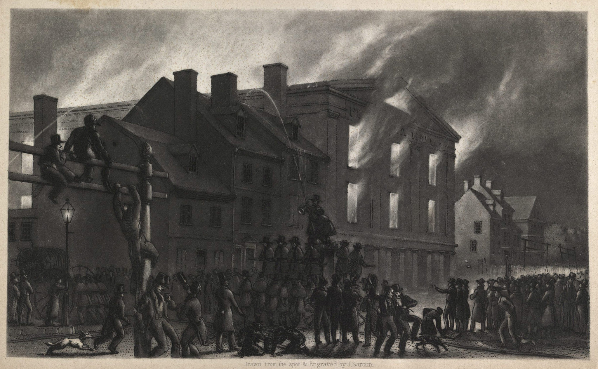 Philadelphia Hall Burning, 1838