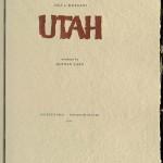 Dale L. Morgan's Utah, 1987, Title Page