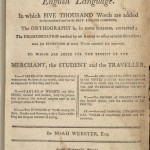 Webster, A Compendious Dictionary.... 1806, Title Page