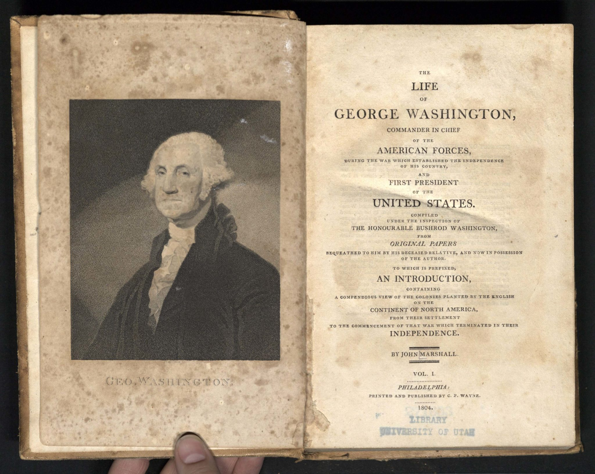 book of the week the life of george washington commander in marshall the life of george washington 1804