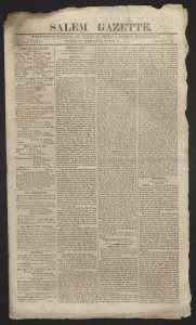 Salem Gazette,1817