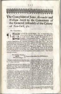 Alexander, Complaint, 1735