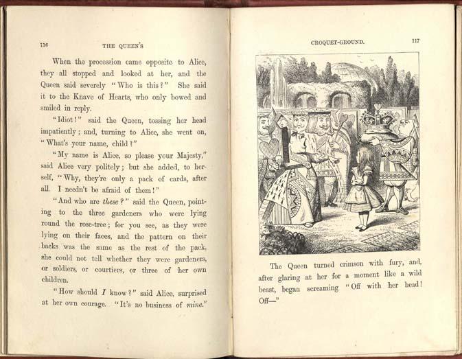 Alice's Adventures in Wonderland The Queen of Hearts and Alice
