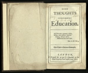 Book Of The Week SOME THOUGHTS CONCERNING EDUCATION