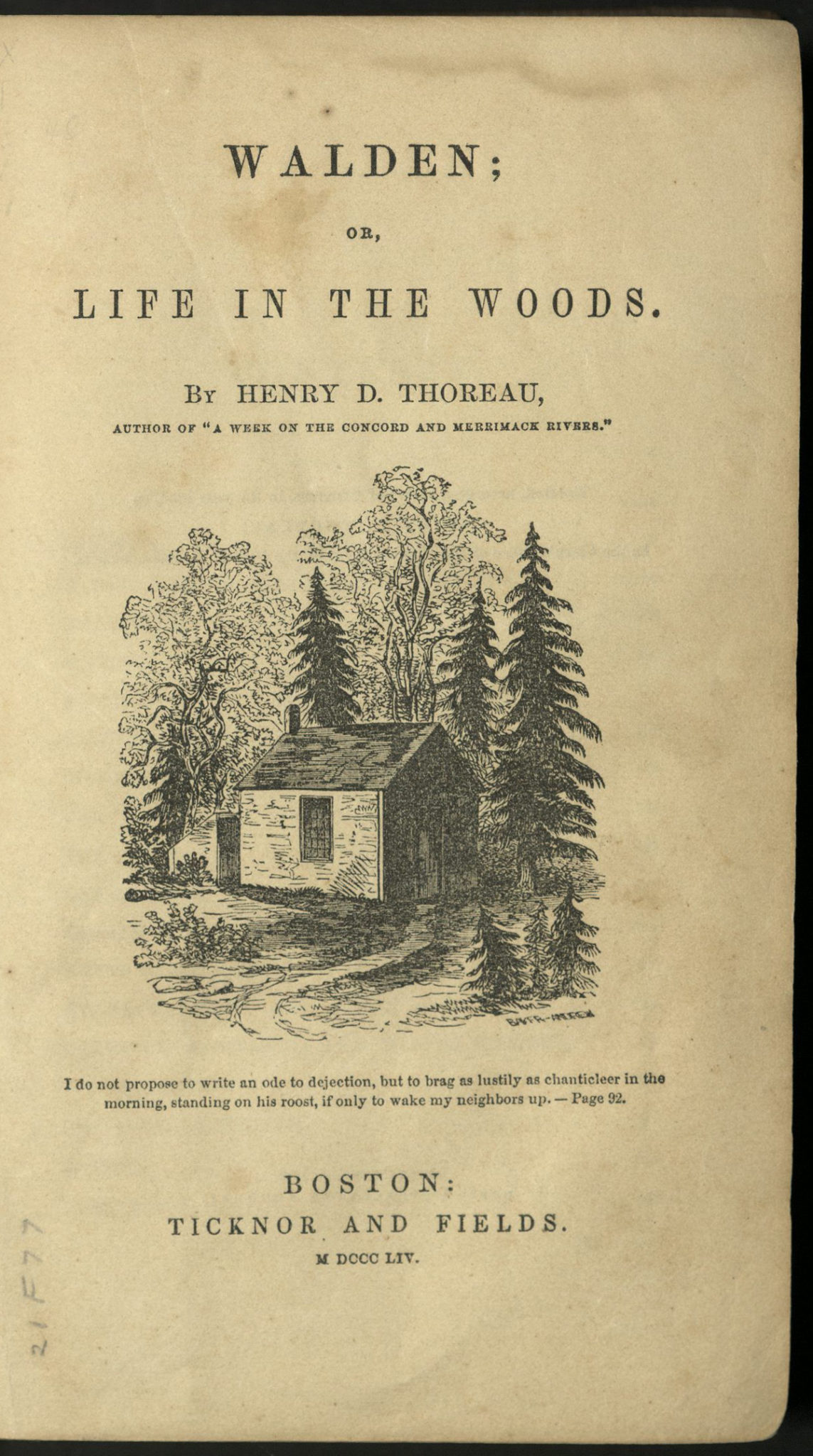 living life in the book walden by henry david thoreau Mysticism in the life and writings of henry david thoreau by  in living the simple life  thoreau's principal work walden was.