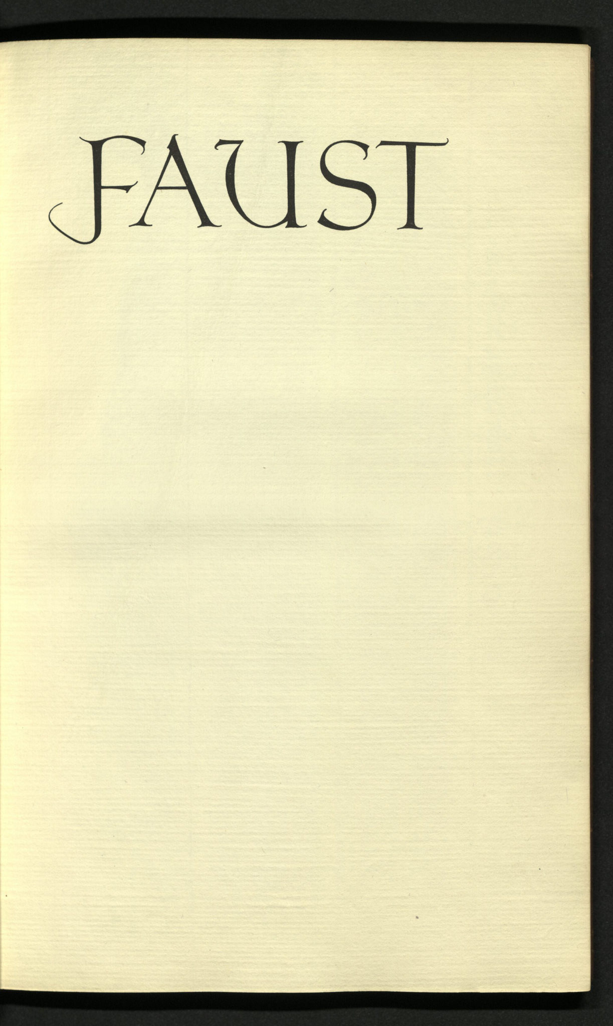 faust essays