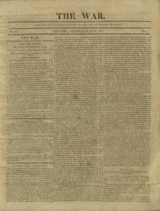 The War, Vol. 1, No. 1, Page 1