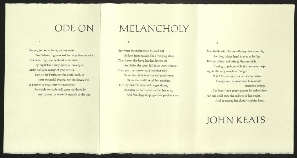 explication on ode on melancholy