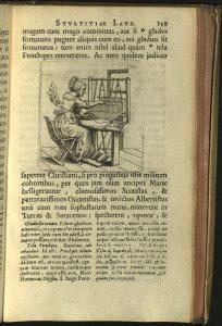 Morias Enkomion - page 149 - woman at loom