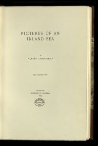 Title page of Portraits of an Inland Sea