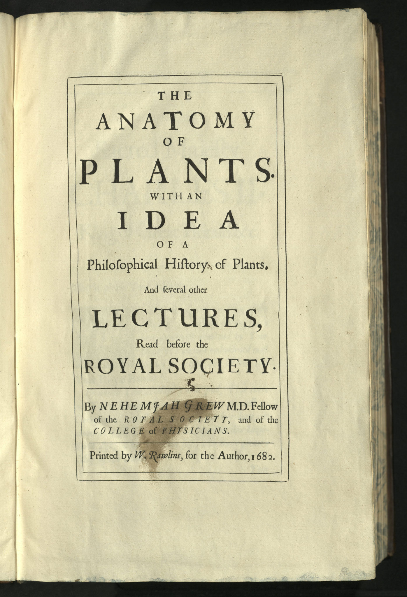 Book Of The Week Anatomy Of Plants With An Idea Of A Philosophical